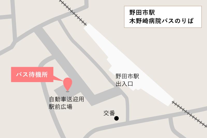 木野崎病院シャトルバスのりば地図